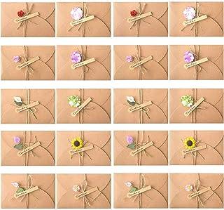 Tomkity 20 pezzi Buste Cartoncini Augurali con Busta per Diverse Occasioni Auguri di Matrimonio, Compleanno, Inviti Letter...