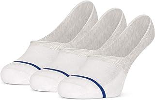Tiger's Milk, 3 pares de calcetines invisibles unisex de algodón peinado, sin costuras, con plantilla suave, color gris y blanco