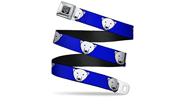 Buckle-Down Unisex-Adults Seatbelt Belt Polar Bear XL 1.5 Wide-32-52 Inches Mustache Royal