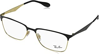 Ray-Ban Men's RX6344 Eyeglasses Gold/Top Shiny Black 56mm