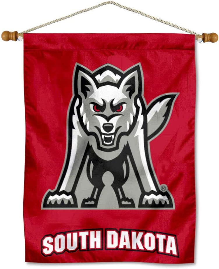 South Dakota Coyotes Banner with Hanging Brand new Pole Max 53% OFF