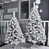 Topashe Material PVC Árbol de Navidad Artificial Arboles Plástico,Árbol de Navidad de Cedro Flocado, decoración navideña-árbol de Nieve_3.5 Metros,Árbol de Navidad Artificial PVC Resistente al Fuego