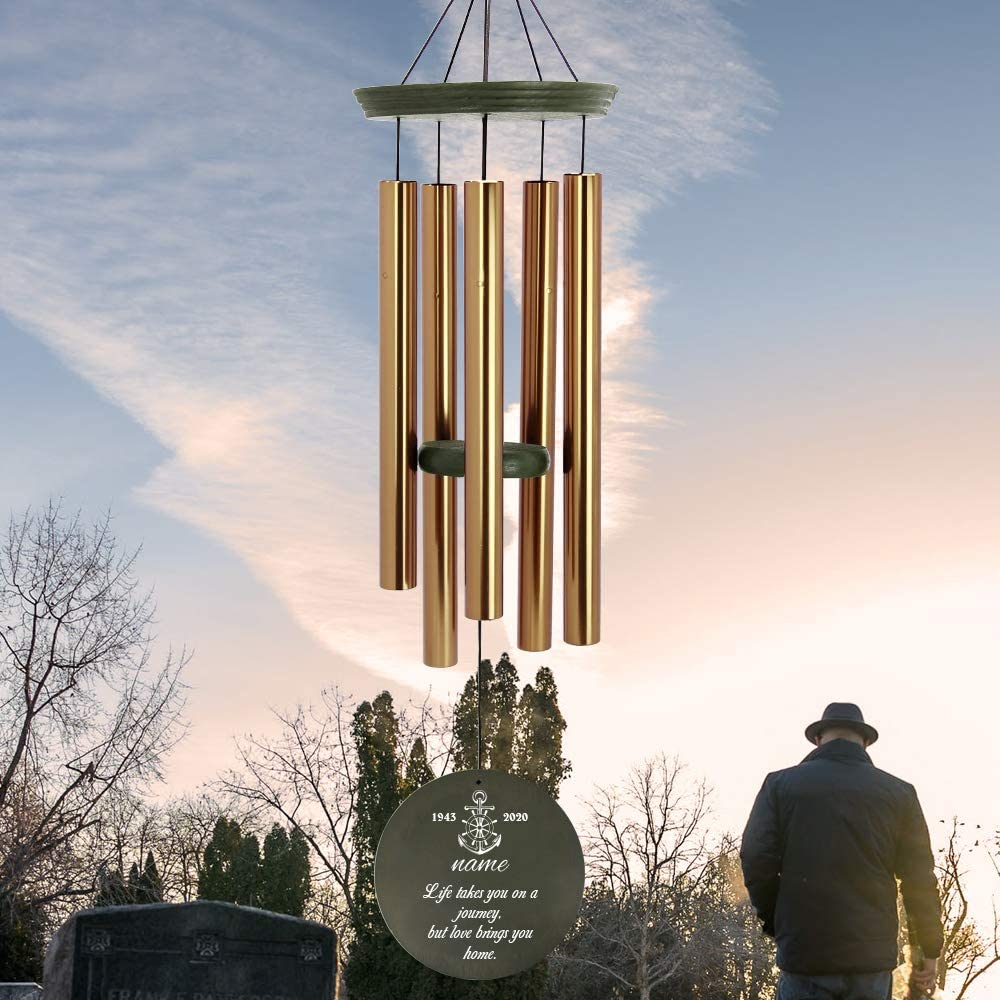ASTARIN Personalized Trust Sympathy Wind Chimes Tone Outdoor Deep 36 Easy-to-use