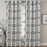 Blackout Curtains 96 Inches Long Thermal Insulated Print Curtains for Bedroom/Living Room...