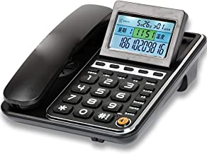 HZPXSB Corded Telephone,Home Office Phone,Landline Telephone with Answer Machine,Corded Telephones Land Line with Caller Id (Color : Black)