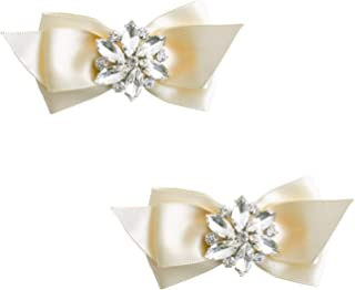 CQ Women Bow Shoe Clips Rhinestones Decorative Jewelry Wedding Party Accessories Decoration