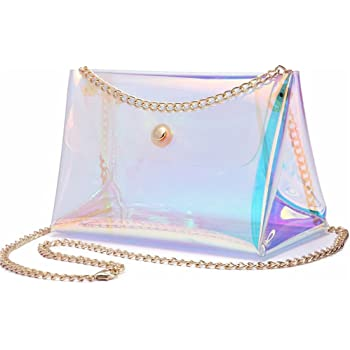Holographic Bag Translucent Iridescent Rainbow Laser