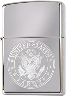 US Army Seal Eagle Circle Logo Engraved Lighter - MADE IN USA