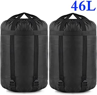 Borogo Compression Stuff Sack, 24L/36L/46L Sleeping Bags Storage Stuff Sack Organizer Waterproof Camping Hiking Backpacking Bag for Travel - Great Sleeping Bags Clothes Camping