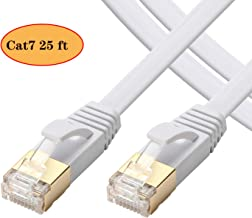 Cat 7 Ethernet Cable 25 ft- Ethernet Cable High Speed- Cat7 Ethernet Cable RJ45 Connectors -Ethernet Cable 15FT 30FT 65FT(25 ft/5m)