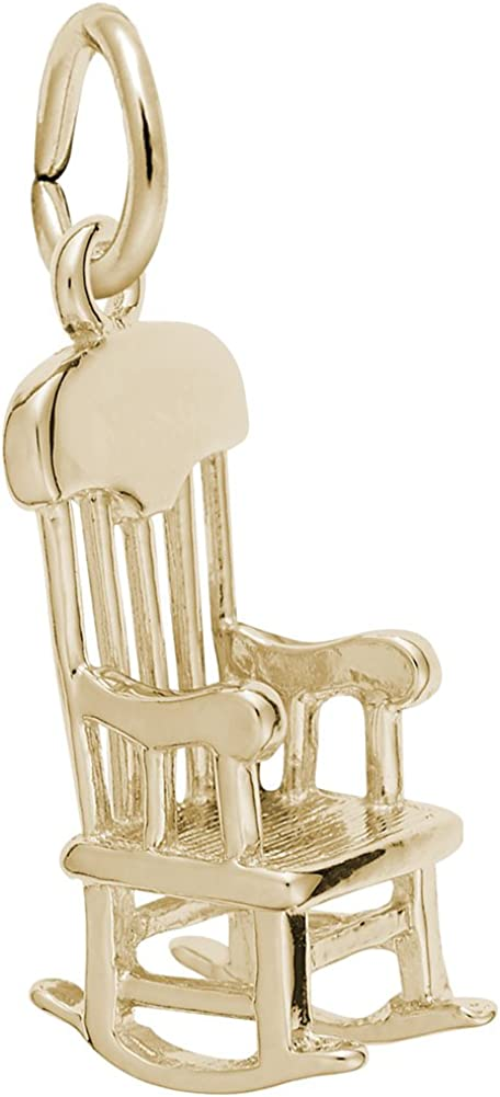 10k Yellow Gold Rocking Chair Wholesale Max 45% OFF Charm for Bracelets Ne Charms and