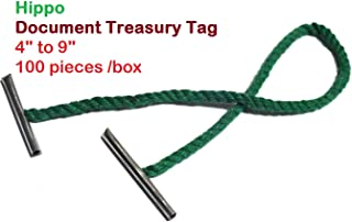 [Pack of 200] 6 inch Metal-Ended Treasury Tag for Fastening/Binding/Filing Documents