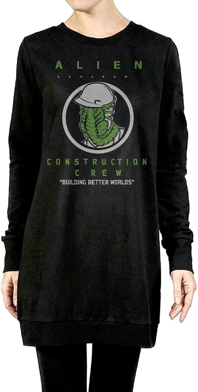 Alien Covenant Women's Long Crewneck Sweater Black