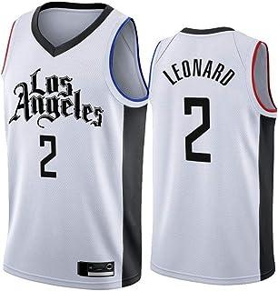Wo nice Camisetas De Baloncesto para Hombre, Los Angeles Clippers # 2 Kawhi Leonard Uniformes De Baloncesto Top Transpirab...