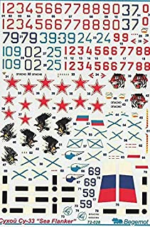 1/72 Scale Begemot Decal Sukhoi Su-33 Sea Flanker - 72-028