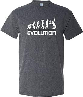 Tennis Evolution Sports Ball Racquet Team Club Funny Humor Adult Men's T-Shirt