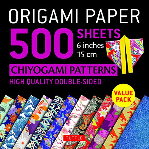 Origami Paper 500 sheets Chiyogami Designs 6 inch 15cm: High-Quality Origami Sheets Printed with 12 Different Designs (Instructions for 8 Projects Included)