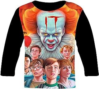 LASAME LASAMELASAMEChildrens Boys and Girls Halloween Double Sided Printed Cotton T-Shirt
