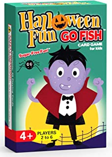 Halloween Fun Go Fish Card Game for Kids - Play Go Fish, Old Maid, and Slap Jack - 3 Fun Classic Kids Games in 1 Halloween Themed Deck