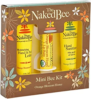 The Naked Bee Orange Blossom Honey Bee Hand & Body Lotion, Lip Balm, and Hand Sanitizer 3 Piece Kit