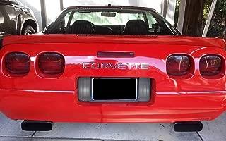 BDTrims Front and Rear Bumper Plastic Letters Inserts Set fits 1991-1996 Corvette C4 Models (Chrome)