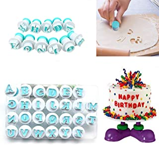 Alphabet Letters,Nuoda 26pcs Uppercase Letters Fondant Cake Biscuit Mold,Cake Decorating Tools, Cookie Stamp Impress,Embosser Cutter, DIY Sugar Craft Cookies Plunger-Plastic (Uppercase Letters)
