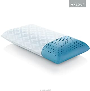 MALOUF ZZQQMPADZG Z Zoned Pillow Infused with Temperature Regulating Gel-New ACTIVEDOUGH Formula is Responsive, Supportive, and Plush-Mid Loft-Queen, Blue