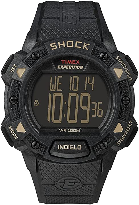 Orologio timex expedition shock chrono alarm timer - black T49896