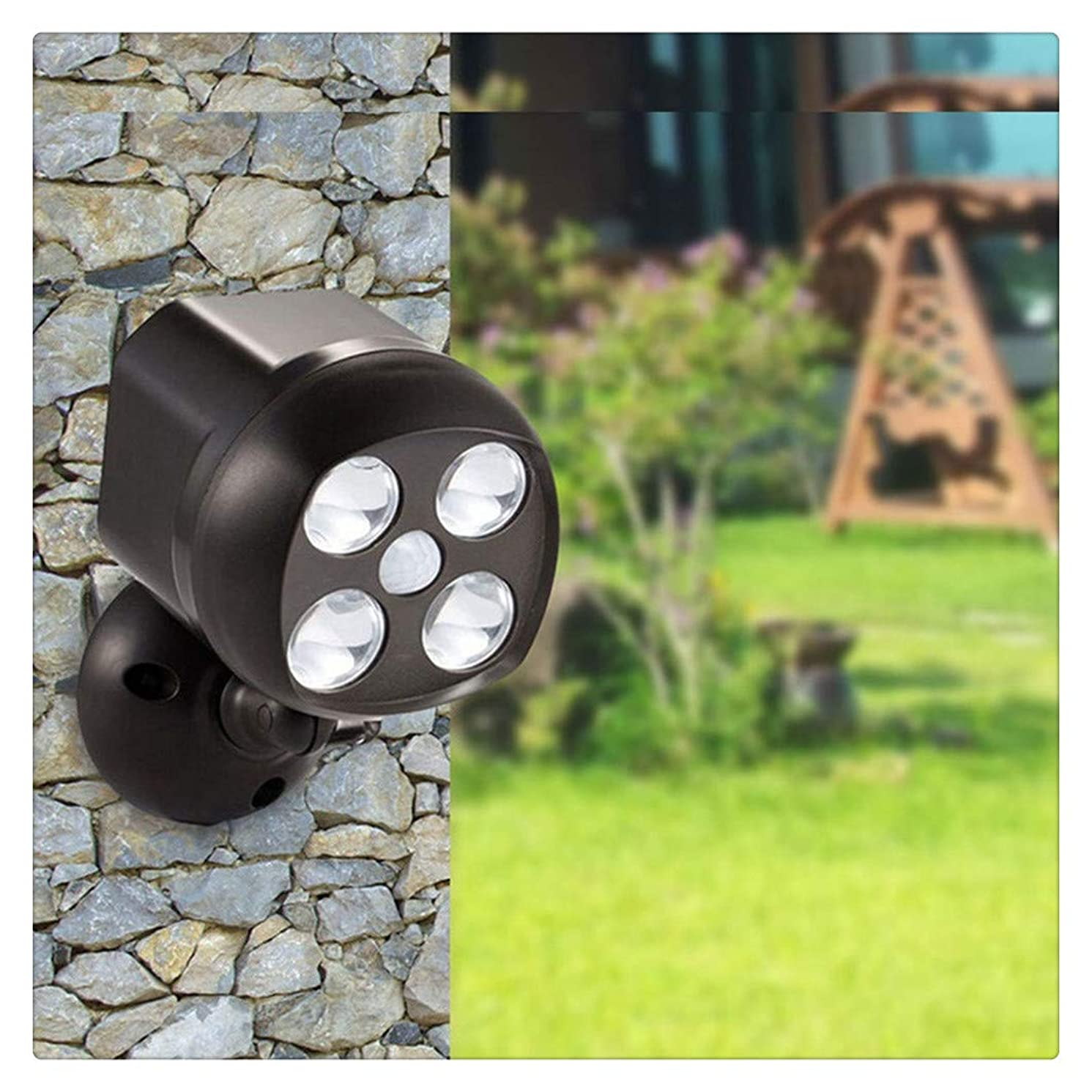 Kanzd 360° Battery Power Motion Sensor Security LED Light Garden Outdoor Indoor