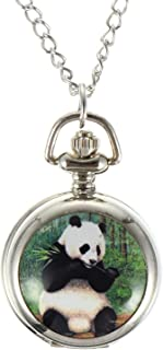 UKCOCO Pandan Montre De Poche Glood Chance Enfants Montre De Poche Mignon Antique Suspendus Montre Pendentif pour L Annive...