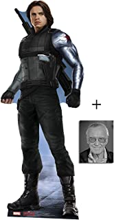 Fan Pack - The Winter Soldier Bucky Barnes Captain America: Civil War Lifesize Cardboard Cutout/Standee / Stand Up - Includes 8x10 Star Photo