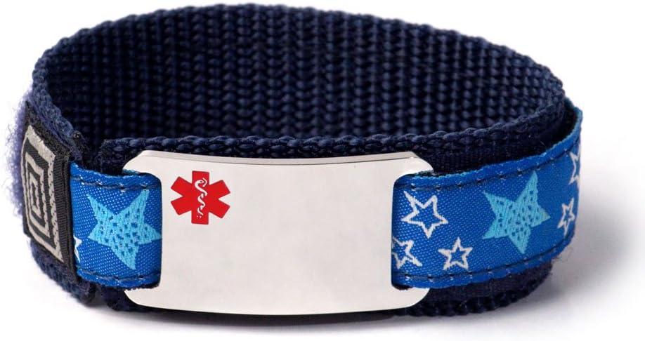 Seizure Disorder Kids Sport Medical ID Red with Elegant Bracelet Alert E Reservation