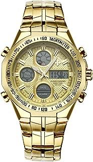 GLJJQMY Electronic Watch Outdoor Multi-Function Waterproof Men's Digital Sports Watch with Stopwatch/Alarm Clock/Timer/LED Lights/Chronograph/Calendar Smart Bracelet (Color : A)