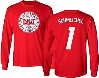 Tcamp Soccer Legends #1 Peter SCHMEICHEL Jersey Style Men's Long Sleeve T-Shirt