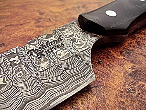 Poshland Custom Handmade Full Tang Damascus Steel Skinner Knife
