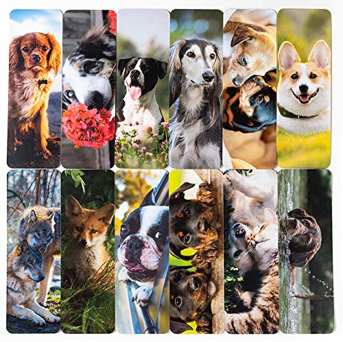 Livin Harmony || Awesome Cute Dog Bookmarks || Great Book Marker Gift for Men, Boys, Girls, Kids, Teens, Students, Women, and Everyone! (Dogs)