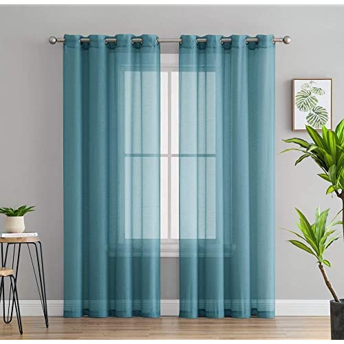 Teal Curtain Panels: Amazon.com