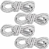 PAGOW 2Pairs Crystal Rhinestone Glitter Rope, Bling Bling Shiny Round shoe laces for sneakers, Drawstring Cords Replacement for Sweatpants Shorts Crystal Hoodies