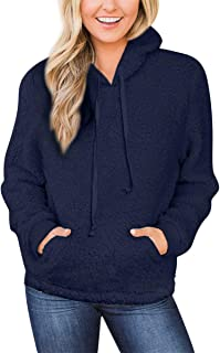 For G and PL Women's Fuzzy Fleece Hoodie Sweatshirts with Pocket