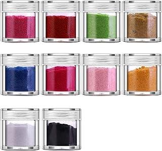 Beashine Polvo de uñas Brillo de uñas Polvo Acrilico Efecto Espejo Arte de Uñas Cromo Pigmento Holográfica Manicura Deco...