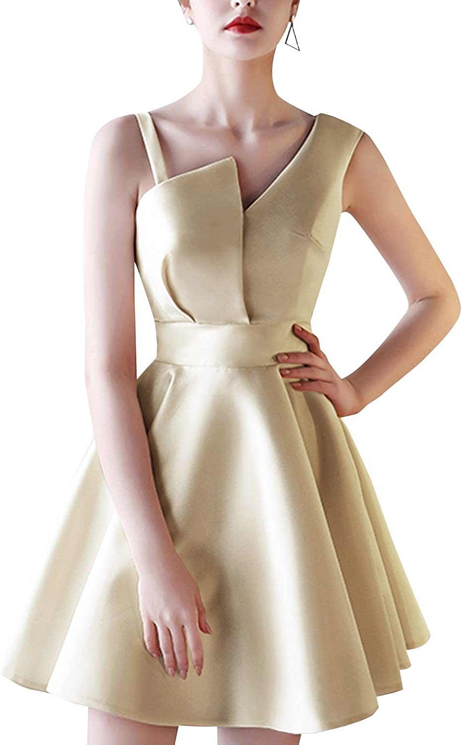 JudyBridal Women's Mini A Line Prom Homecoming Dress Formal Evening Party Gown