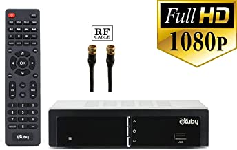eXuby Digital Converter Box for TV with RF/Coaxial Cable for Recording and Viewing Full HD Digital Channels (Instant or Scheduled Recording, 1080P HDTV, HDMI Output, 7 Day Program Guide)