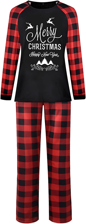 Family Pajamas Sets Christmas Long Sleeve Suit Casual Loungewear Plaid Print Fashion Sleepwear Set Loose Nightwear