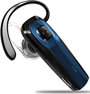 Masentek M26 Bluetooth Headset V4.1 Cordless Handsfree Blue Earpiece w/Noise Cancelling Mic for iPhone 7 Plus 6s 5s SE iPa...