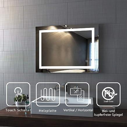 Meykoe Miroir de Salle de Bain LED Miroir Mural avec Fonctions Multiples