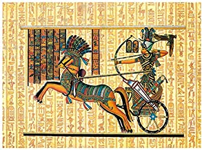 Zimal Full Round Diamond Embroidery Pharaoh of Ancient Egypt 5D Mosaic DIY Diamond Painting Paintings by Number Cross Stitch 11.8 x 15.8 Inch