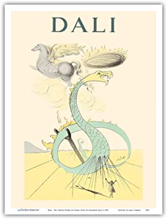 Pacifica Island Art - Dan - from The Twelve Tribes of Israel Suite - Vintage Drypoint Etching by Salvador Dali c.1972 - Ma...