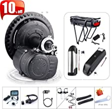 36V/48V 250W 350W 500W Torque Sensored Electric Bicycle Motor Kit Mid Drive DIY Ebike Conversion Kit with Display and Battery (Optional)