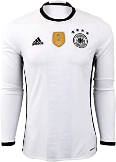 Germany Home Long Sleeve Jersey [White/Black]