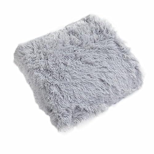 Couverture en velours flanelle super douce en polaire chaude , flanelle, gris, B:160*200cm